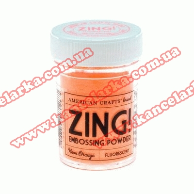 Пудра для эмбосинг Zing Embossing Powder Fluorescent, неон оранжевый