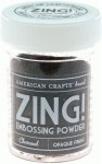 Пудра для ембосінгу 'Zing Embossing Powder-Opaque Finish', темно сірий