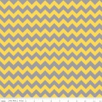 Тканина Riley Blake 'Small Holiday & School Colors Chevron'  Сіро-жовтий шеврон 50*55 см.